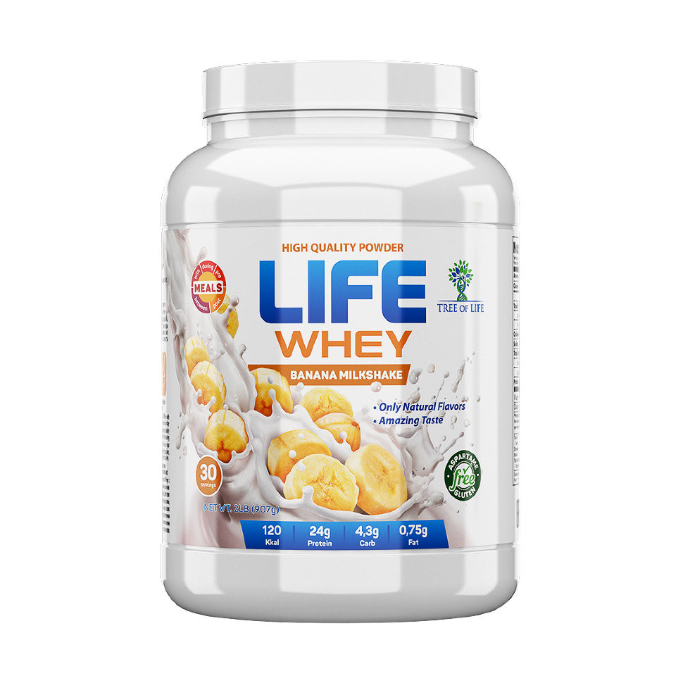 Life Whey Banana milkshake 907g, Tree of life фото 1 — 65fit