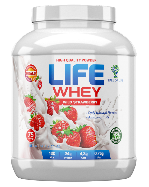Life Whey Strawberry 2270g, Tree of life фото 1 — 65fit