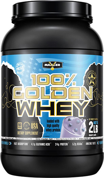 100% Golden Whey Blueberry Muffin 907g, Maxler фото 1 — 65fit