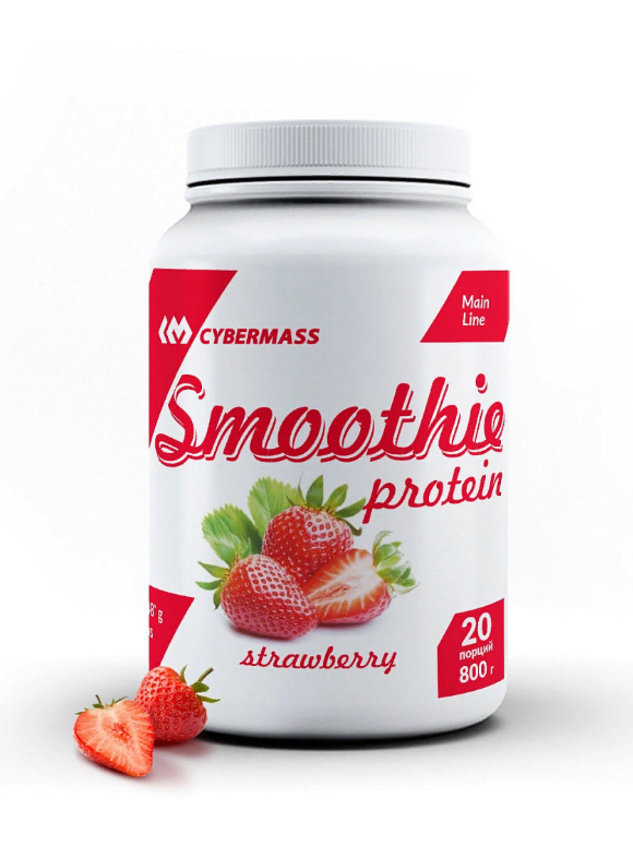 Protein Smoothie клубника 800g, Cybermass фото 1 — 65fit
