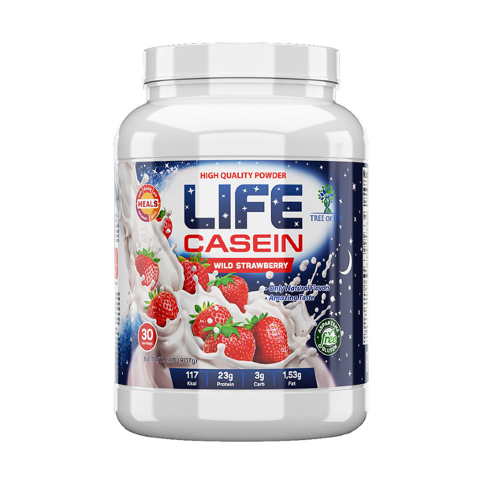 Life Casein Strawberry 907g, Tree of life фото 1 — 65fit