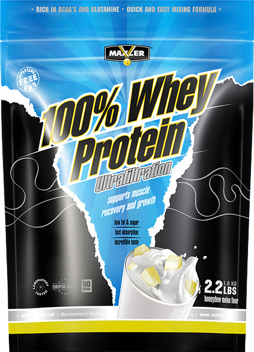 100% Whey Protein Ultrafiltration Honeydew Melon 1000g, Maxler фото 1 — 65fit