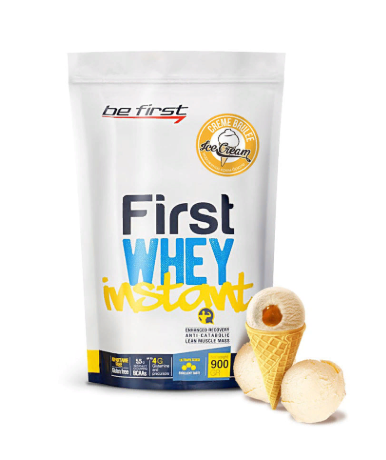 FIRST Whey instans крем-брюле 900гр, BE FIRST фото 1 — 65fit