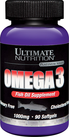 Оmega 3 1000mg 90 softgels, Ultimate Nutrition фото 1 — 65fit