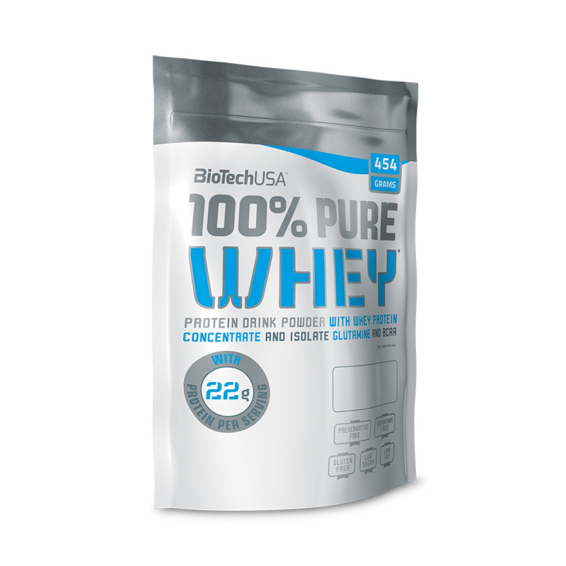 100% Pure Whey карамель-капучино 454г, BioTech фото 1 — 65fit