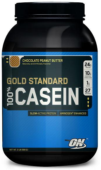 ON GOLD STANDARD 100% CASEIN Протеин Шоколад-Арахисовое масло 2lb (909г) фото 1 — 65fit