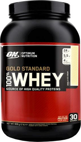 Gold Standard 100% Whey Delicious Strawberry 909гр, Optimum Nutrition фото 1 — 65fit