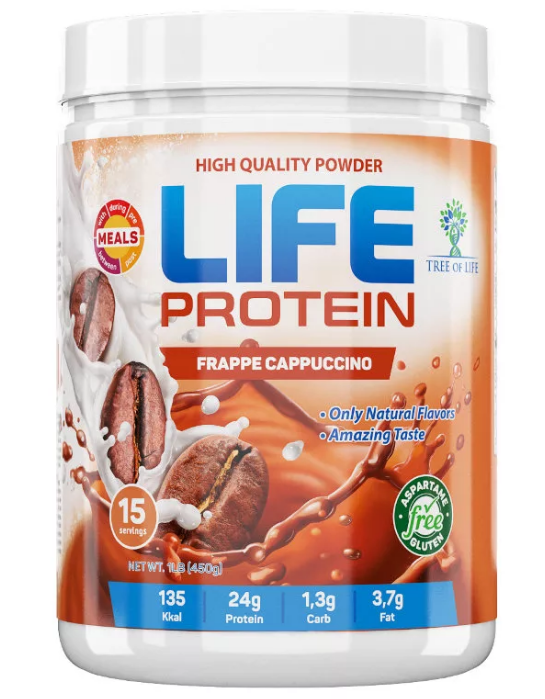 Life Protein Frape cappuchino 454g, Tree of life фото 1 — 65fit