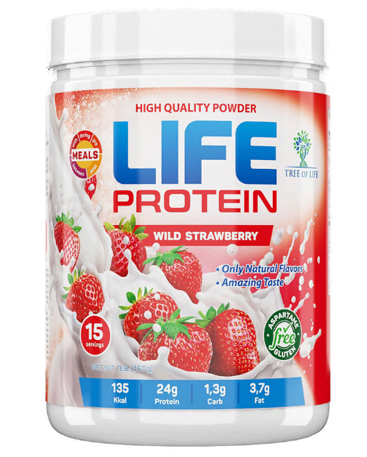 Life Protein Wild strawberry 454g, Tree of life фото 1 — 65fit