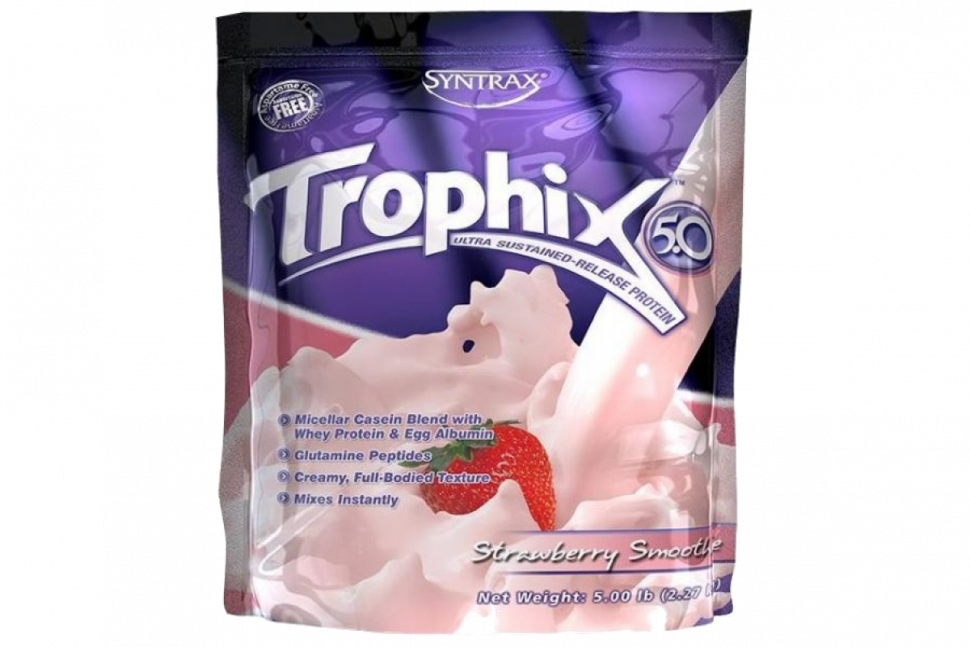 Trophix Strawberry Smoothie 2270g, Syntrax фото 1 — 65fit