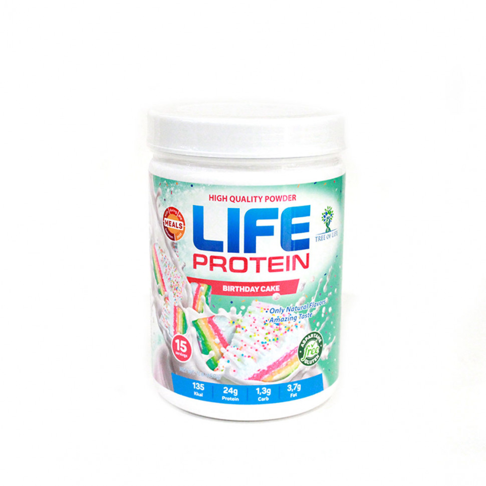 Life Protein Birthday cake 454g, Tree of life фото 1 — 65fit