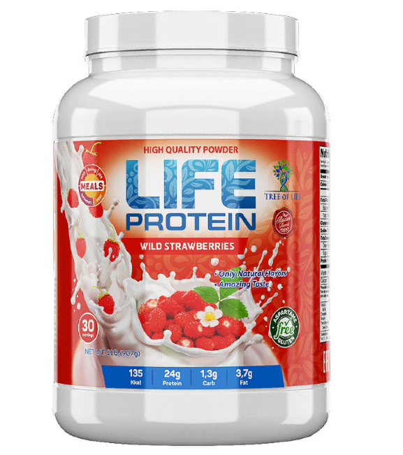Life Protein Wild strawberry 907g, Tree of life фото 1 — 65fit