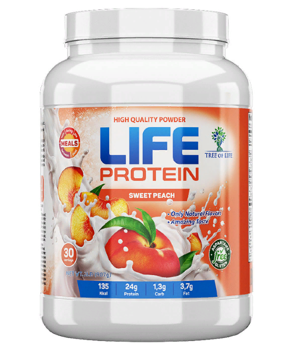 Life Protein Sweet peach 907g, Tree of life фото 1 — 65fit